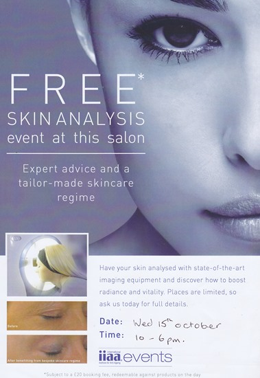 Environ Skin Care Analysis Event - Beauty Clinic - October 1